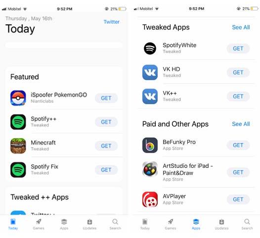 Tweaked App Store