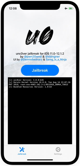 Unc0ver Jailbreak for iOS 12 4 - Unc0ver 3 5 0